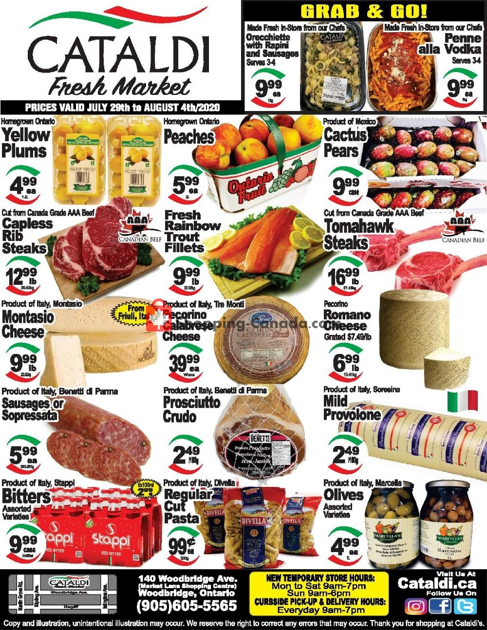 Flyer Cataldi Fresh Market Canada - from Wednesday July 29, 2020 to Tuesday August 4, 2020