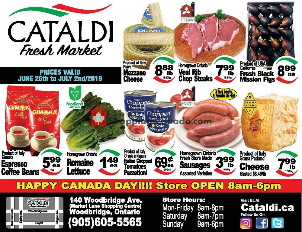 Flyer Cataldi Fresh Market Canada - from Wednesday June 26, 2019 to Tuesday July 2, 2019