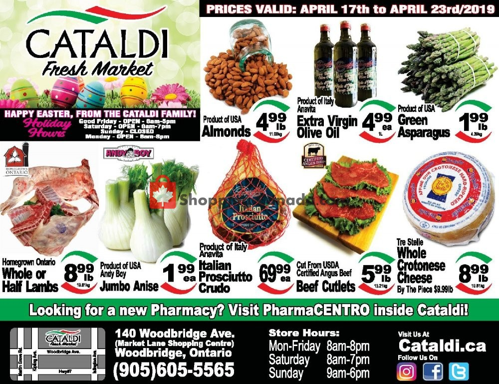 Flyer Cataldi Fresh Market Canada - from Wednesday April 17, 2019 to Tuesday April 23, 2019