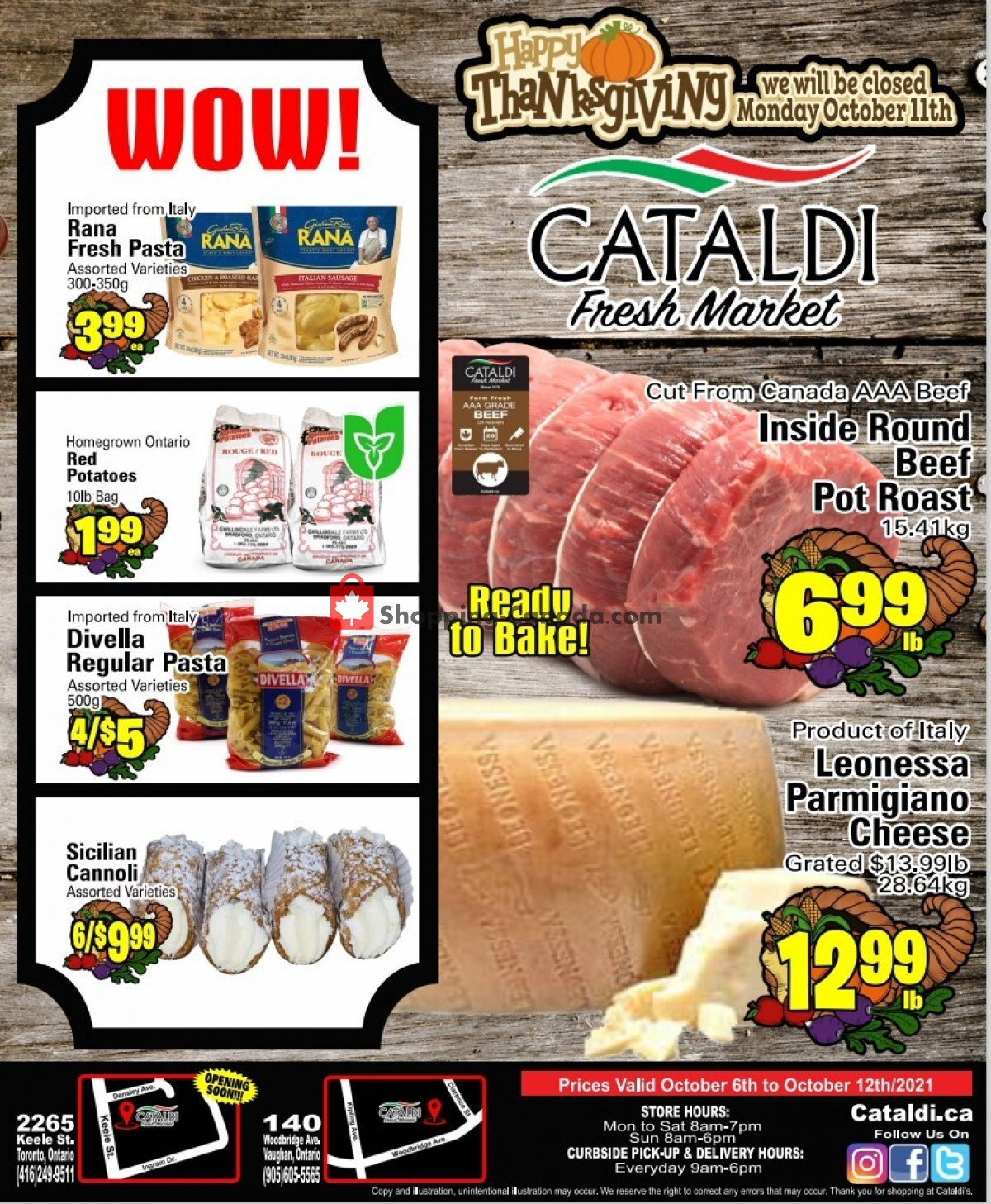 Flyer Cataldi Fresh Market Canada - from Wednesday October 6, 2021 to Tuesday October 12, 2021