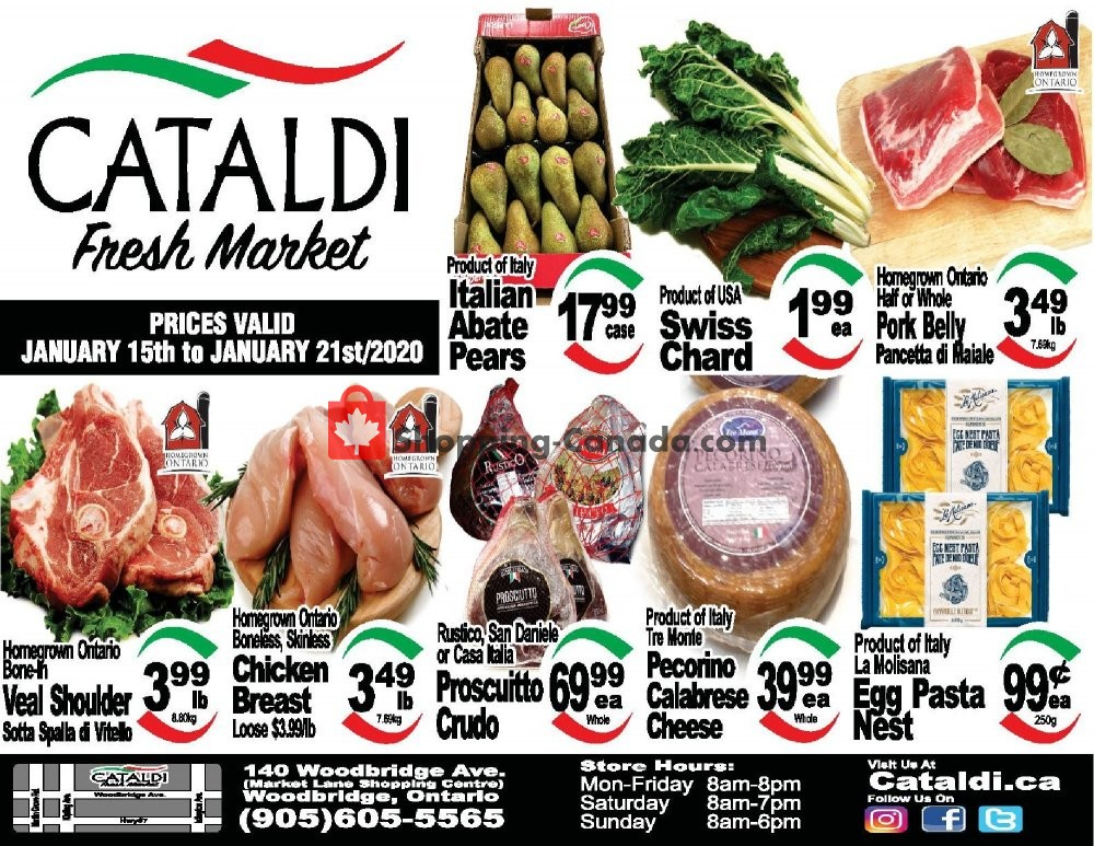 Flyer Cataldi Fresh Market Canada - from Wednesday January 15, 2020 to Tuesday January 21, 2020