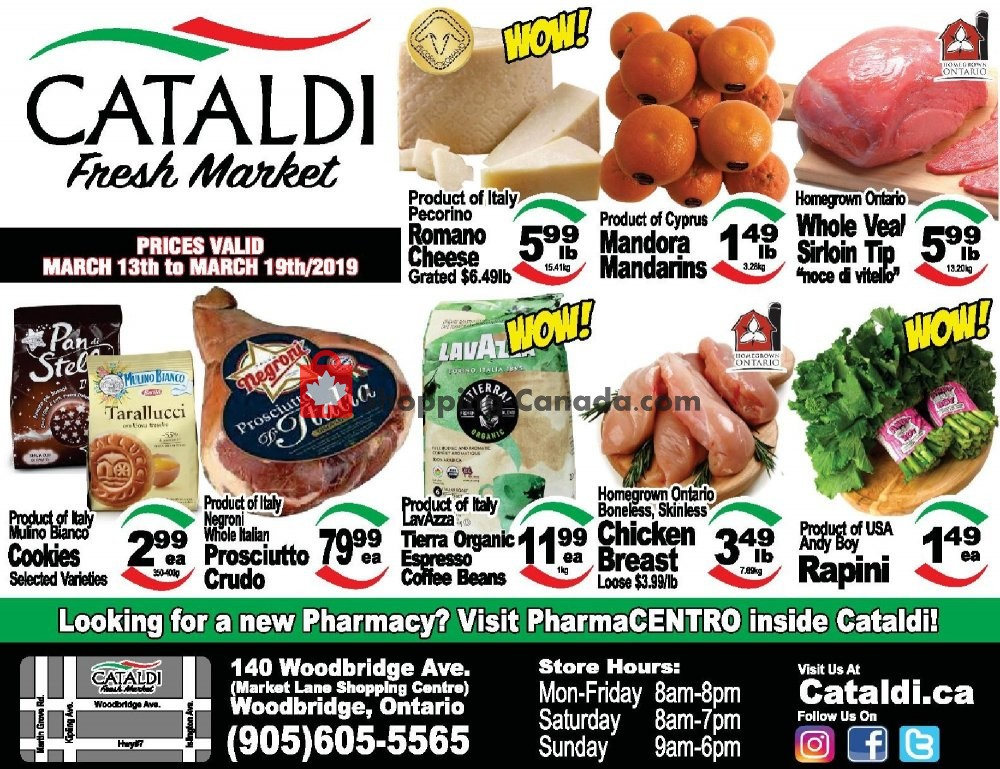 Flyer Cataldi Fresh Market Canada - from Wednesday March 13, 2019 to Tuesday March 19, 2019
