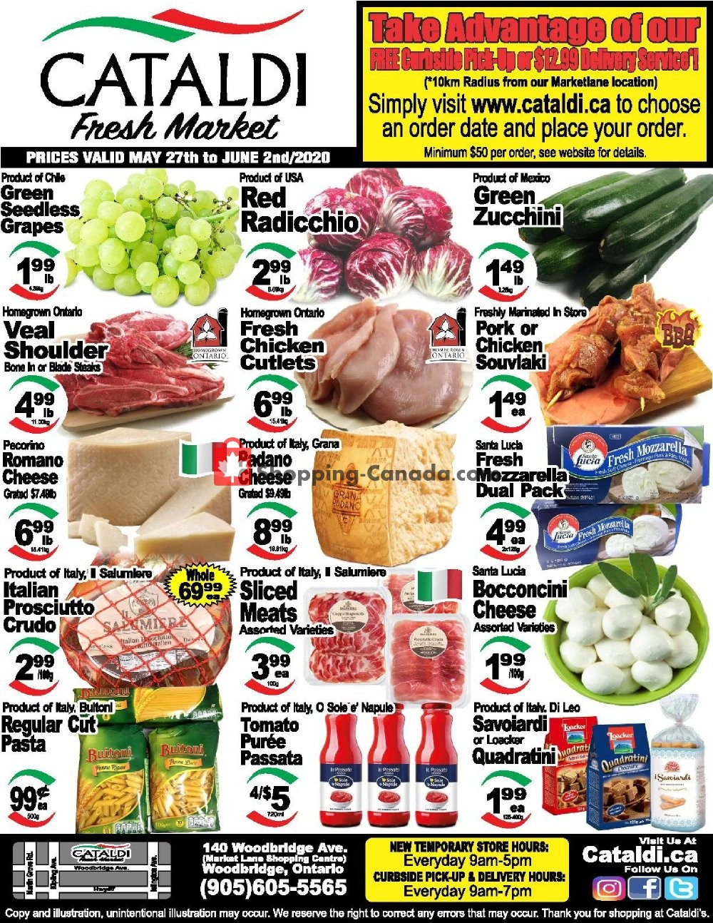 Flyer Cataldi Fresh Market Canada - from Wednesday May 27, 2020 to Tuesday June 2, 2020