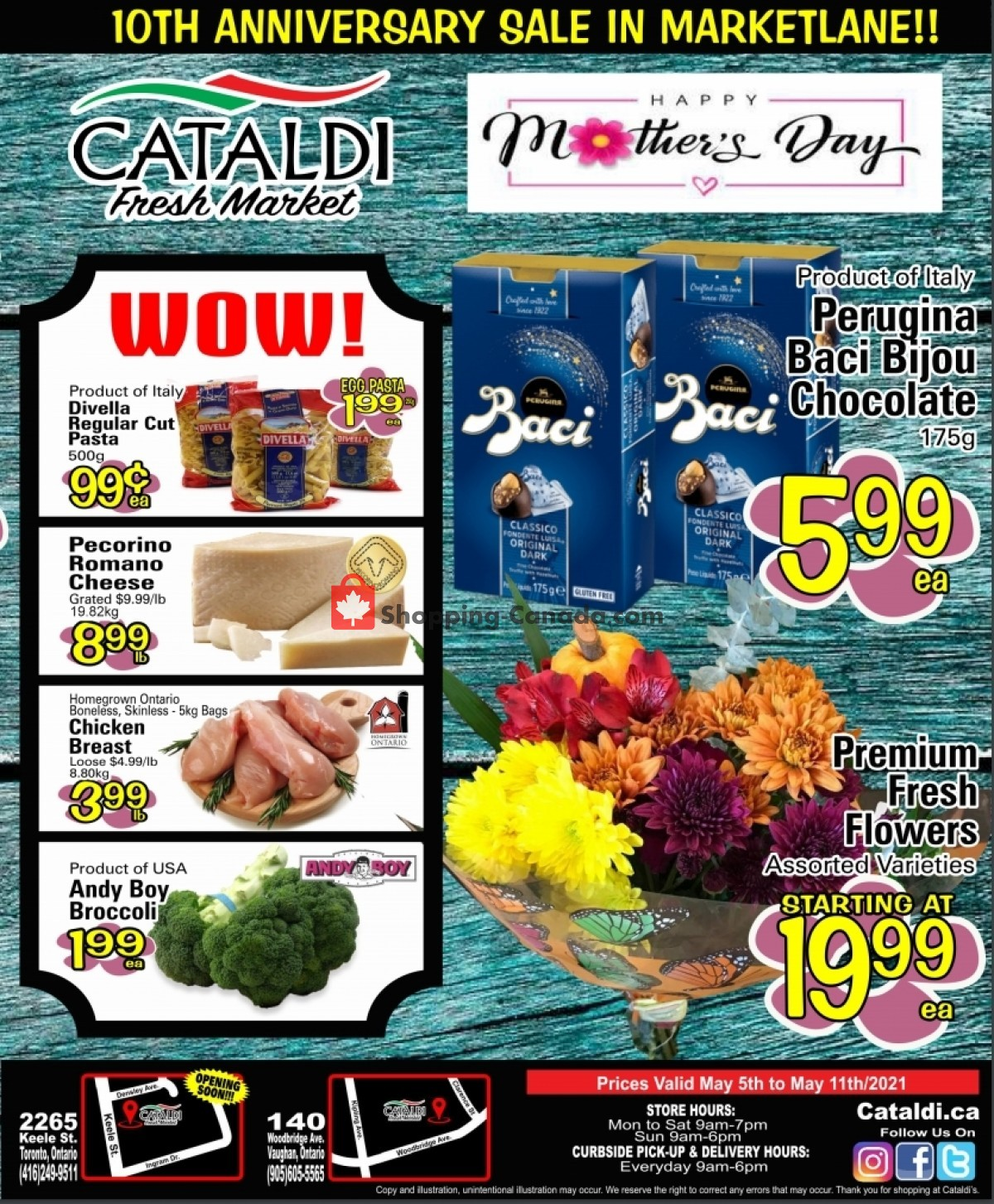 Flyer Cataldi Fresh Market Canada - from Wednesday May 5, 2021 to Tuesday May 11, 2021
