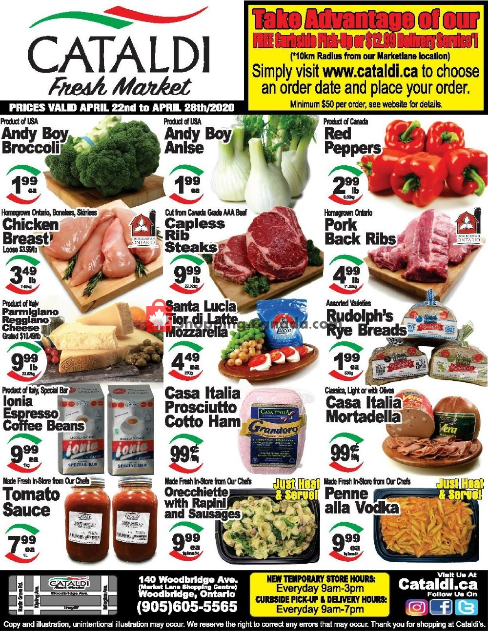 Flyer Cataldi Fresh Market Canada - from Wednesday April 22, 2020 to Tuesday April 28, 2020