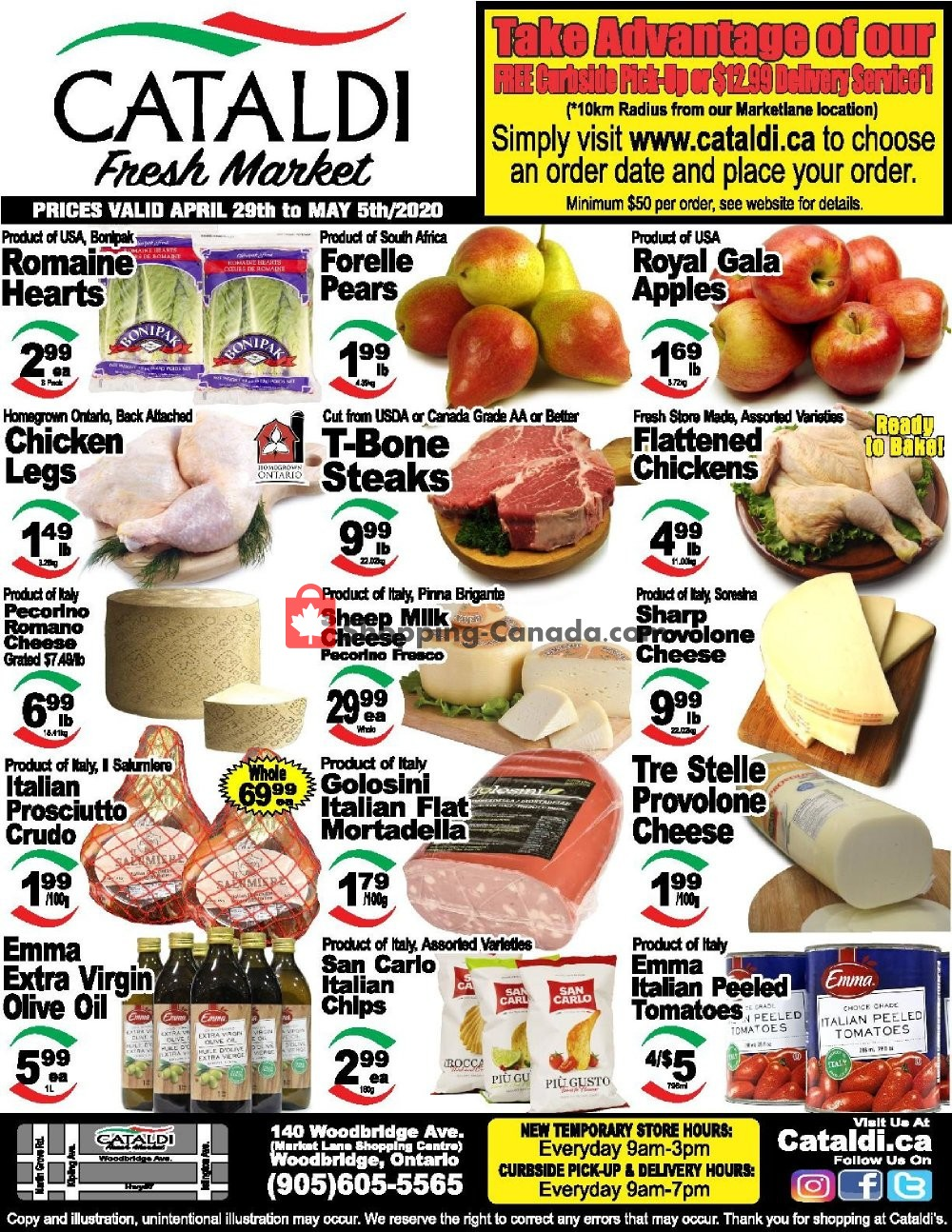 Flyer Cataldi Fresh Market Canada - from Wednesday April 29, 2020 to Tuesday May 5, 2020