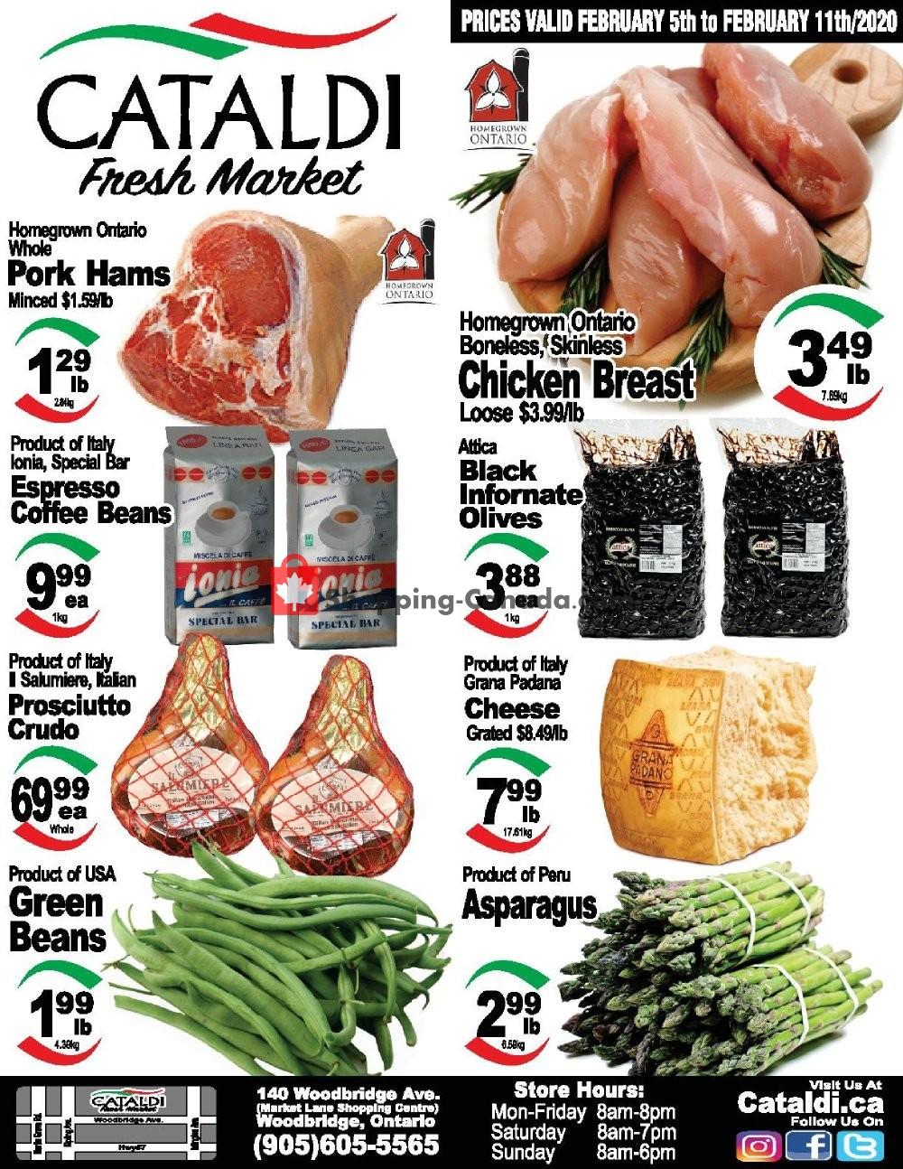 Flyer Cataldi Fresh Market Canada - from Wednesday February 5, 2020 to Tuesday February 11, 2020