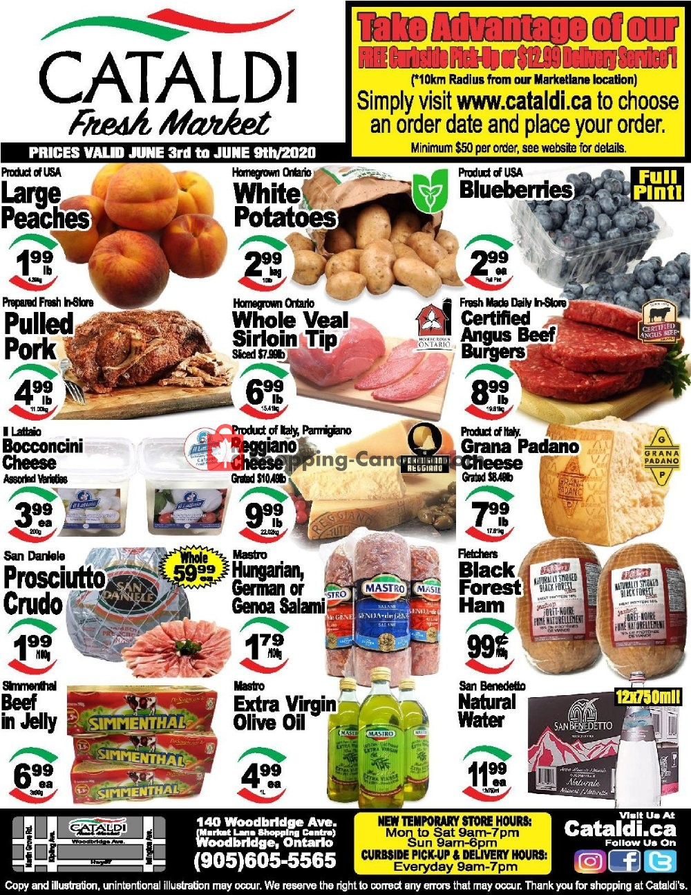 Flyer Cataldi Fresh Market Canada - from Wednesday June 3, 2020 to Tuesday June 9, 2020