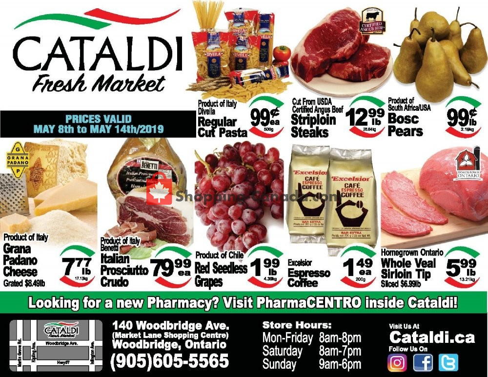 Flyer Cataldi Fresh Market Canada - from Wednesday May 8, 2019 to Tuesday May 14, 2019