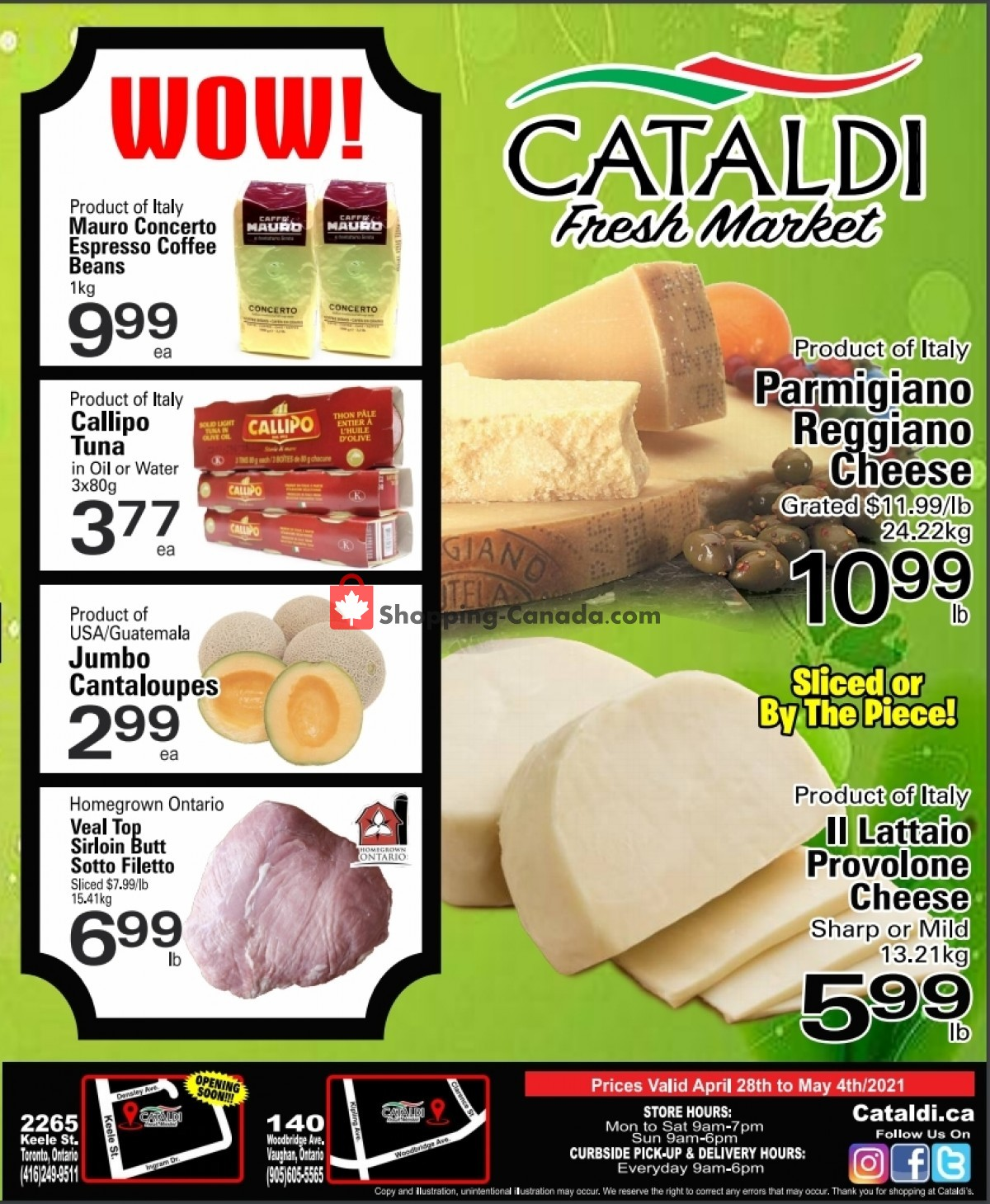 Flyer Cataldi Fresh Market Canada - from Wednesday April 28, 2021 to Tuesday May 4, 2021