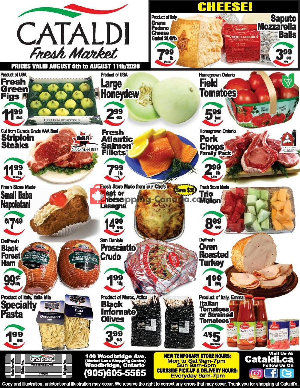 Flyer Cataldi Fresh Market Canada - from Wednesday August 5, 2020 to Tuesday August 11, 2020