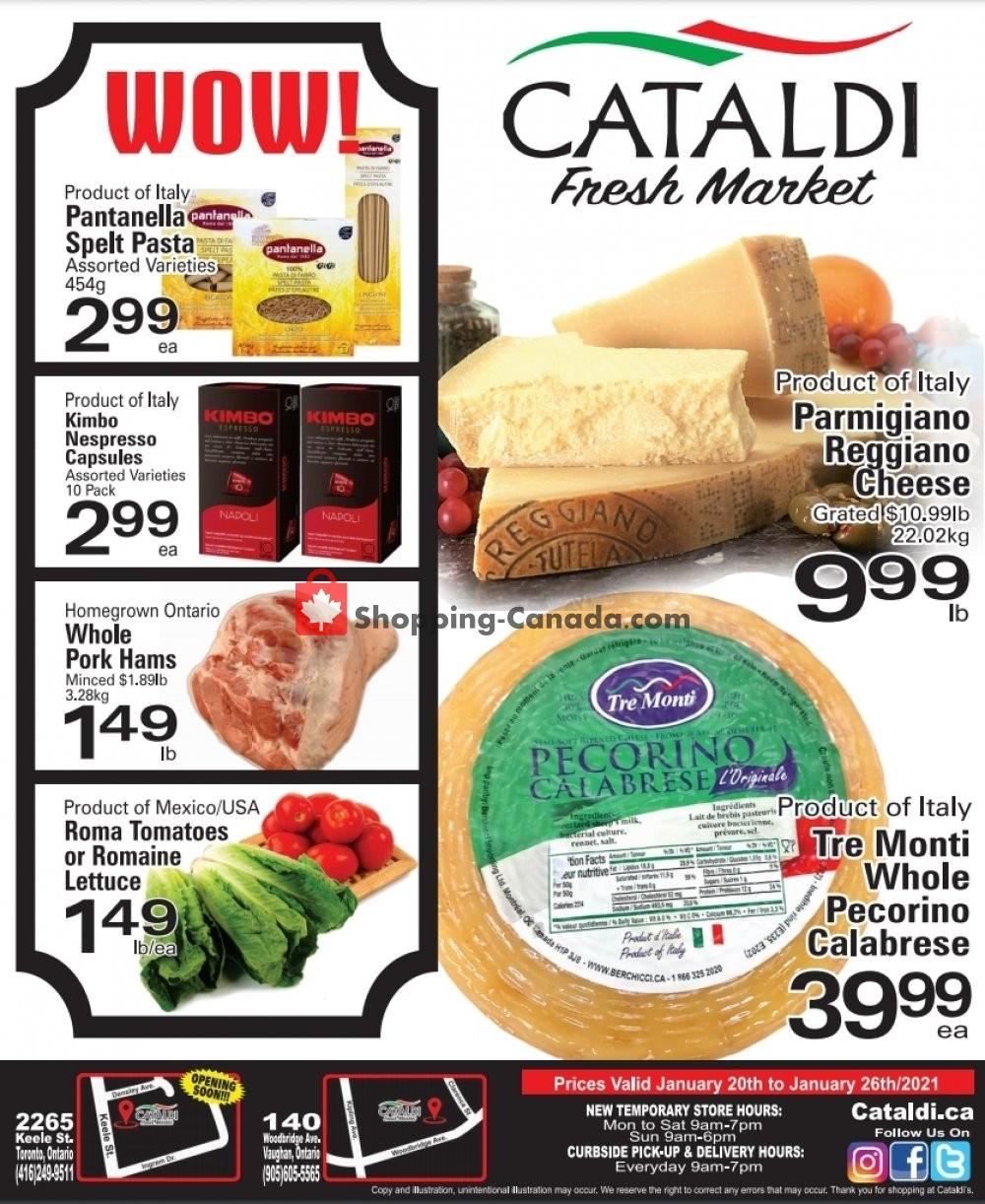Flyer Cataldi Fresh Market Canada - from Wednesday January 20, 2021 to Tuesday January 26, 2021