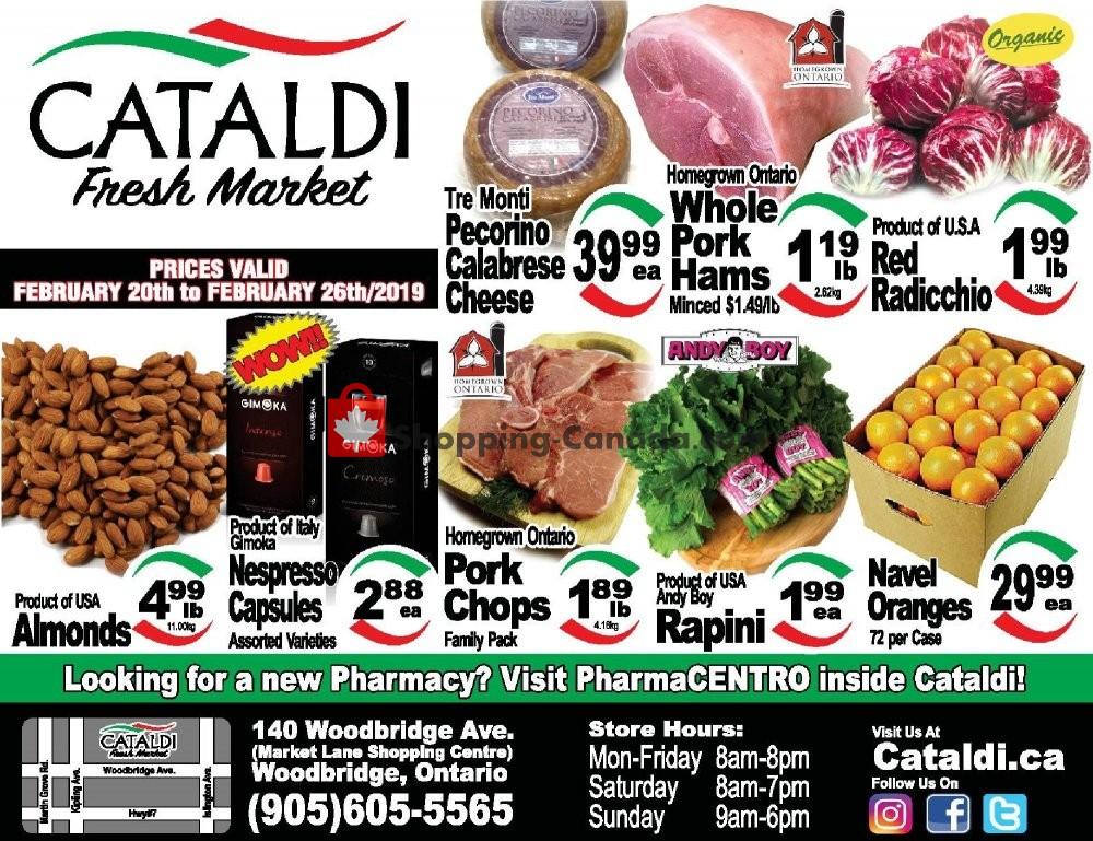 Flyer Cataldi Fresh Market Canada - from Wednesday February 20, 2019 to Tuesday February 26, 2019