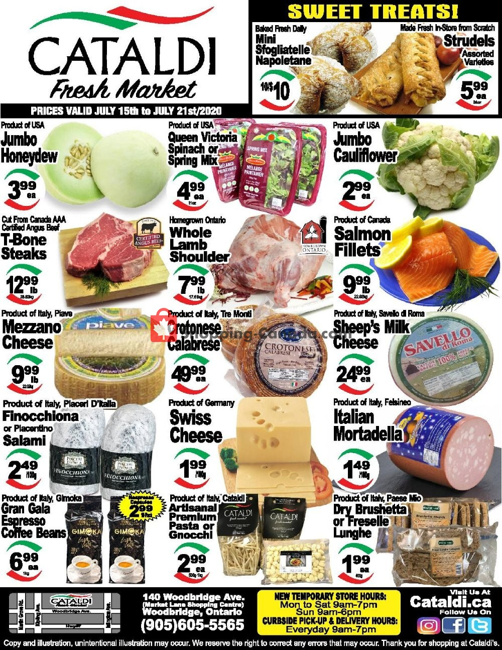 Flyer Cataldi Fresh Market Canada - from Wednesday July 15, 2020 to Tuesday July 21, 2020