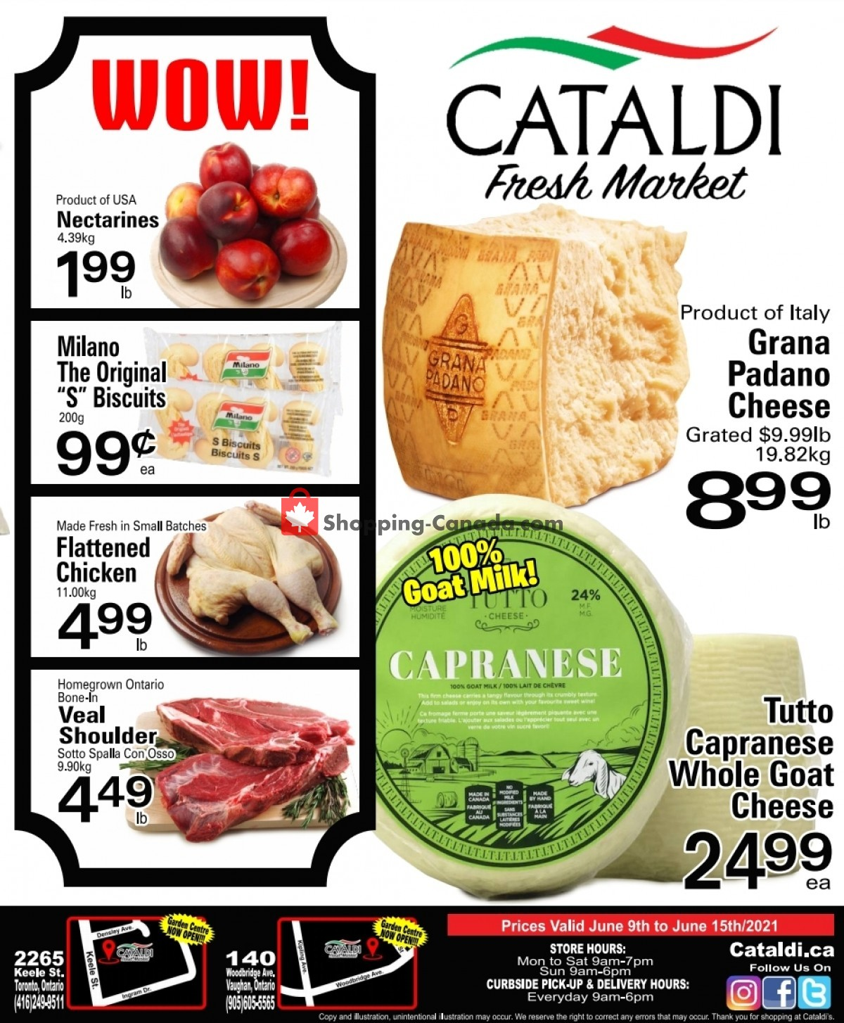 Flyer Cataldi Fresh Market Canada - from Wednesday June 9, 2021 to Tuesday June 15, 2021