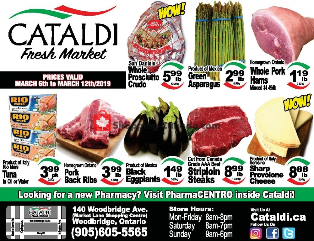 Flyer Cataldi Fresh Market Canada - from Wednesday March 6, 2019 to Tuesday March 12, 2019