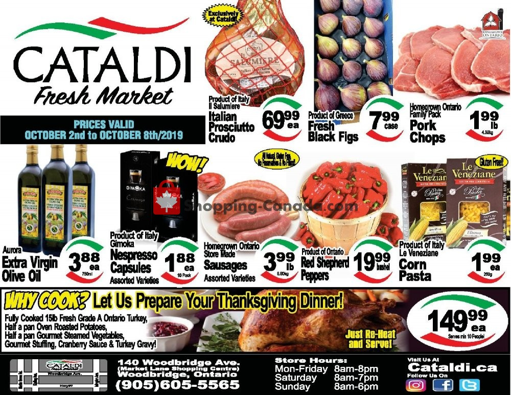 Flyer Cataldi Fresh Market Canada - from Wednesday October 2, 2019 to Tuesday October 8, 2019