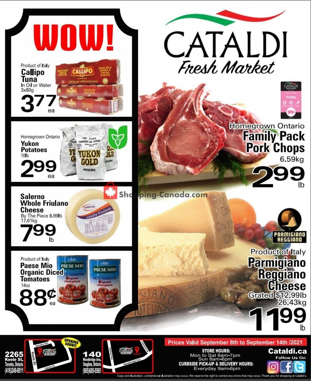 Flyer Cataldi Fresh Market Canada - from Wednesday September 8, 2021 to Tuesday September 14, 2021