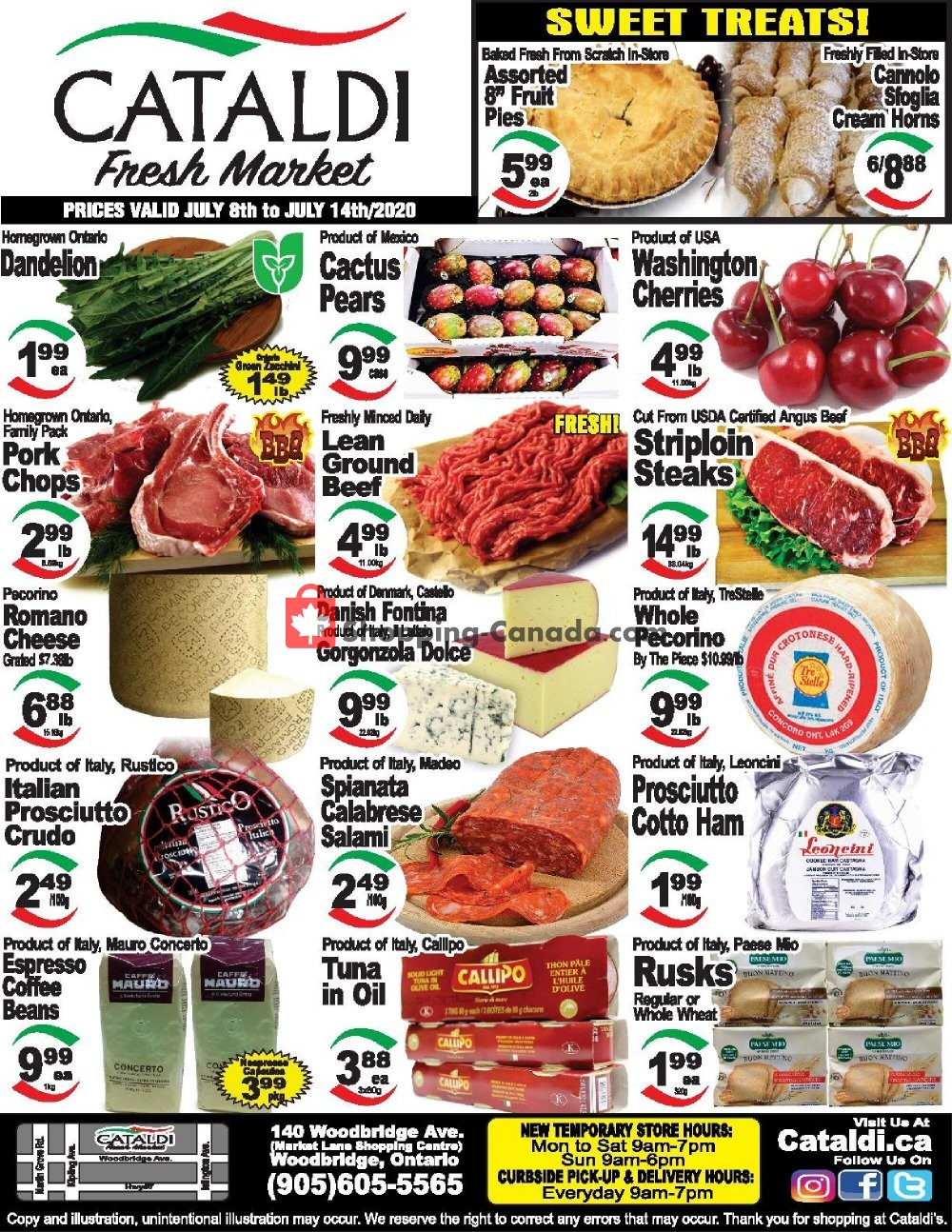 Flyer Cataldi Fresh Market Canada - from Wednesday July 8, 2020 to Tuesday July 14, 2020