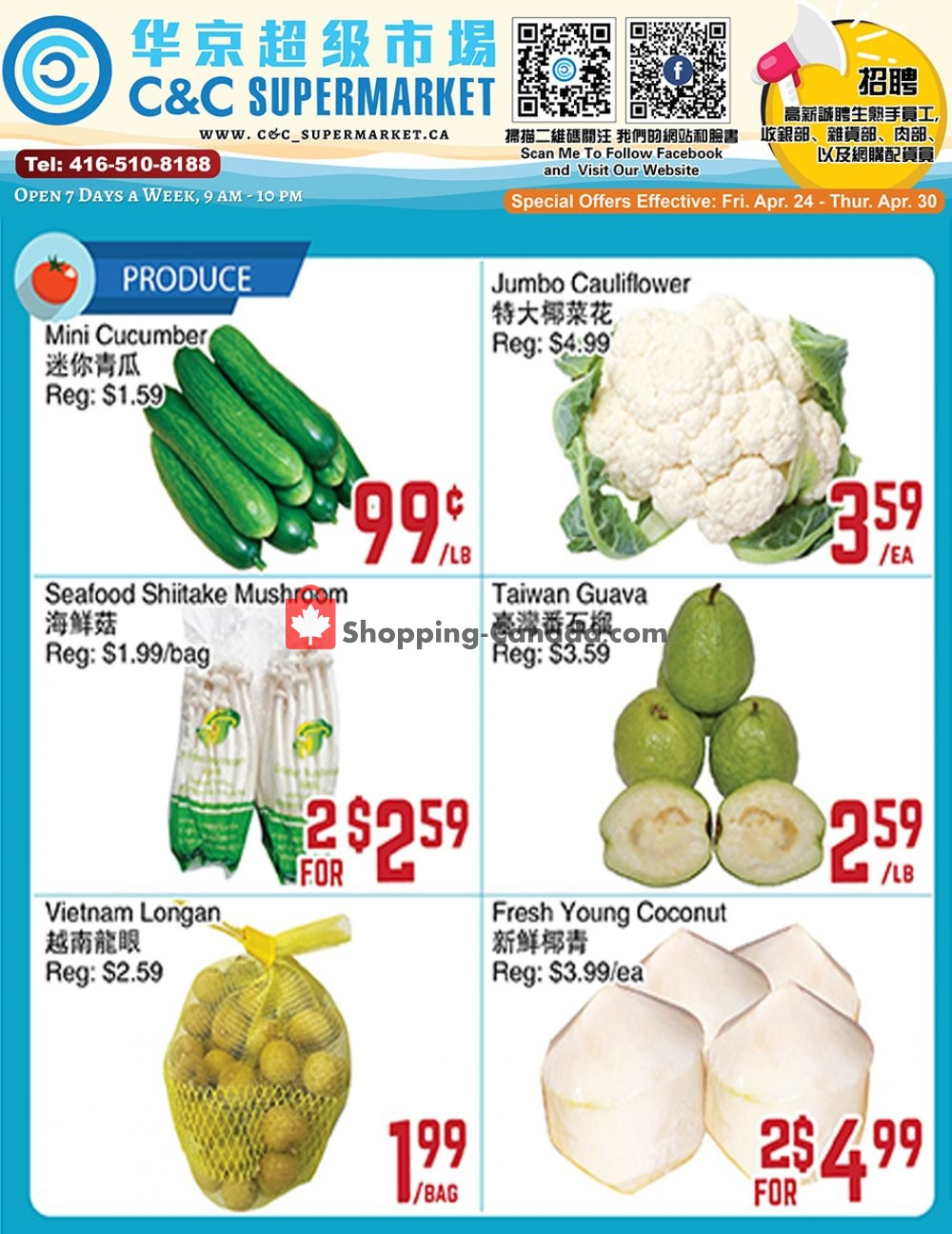 Flyer C&C Supermarket Canada - from Friday April 24, 2020 to Thursday April 30, 2020