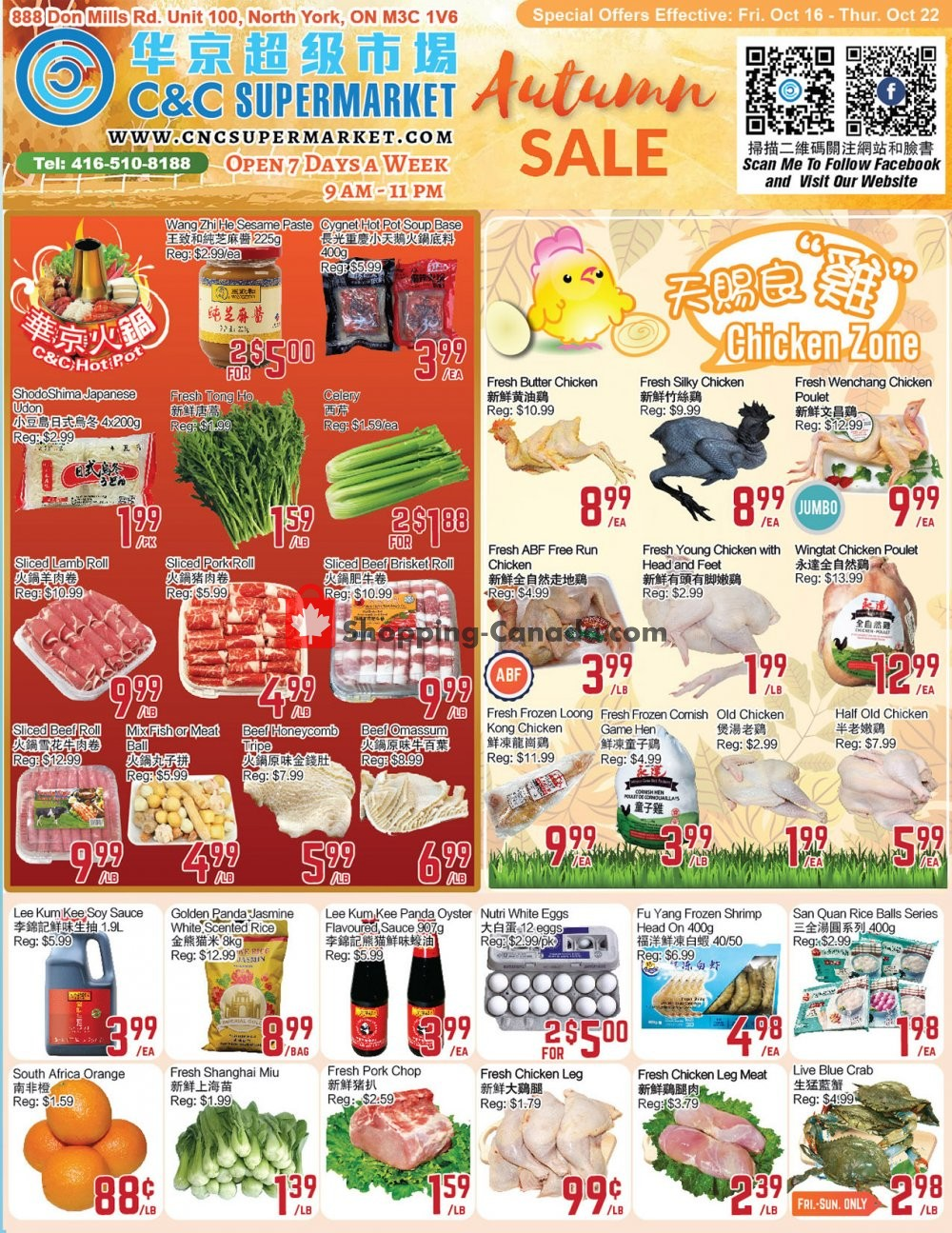Flyer C&C Supermarket Canada - from Friday October 16, 2020 to Thursday October 22, 2020