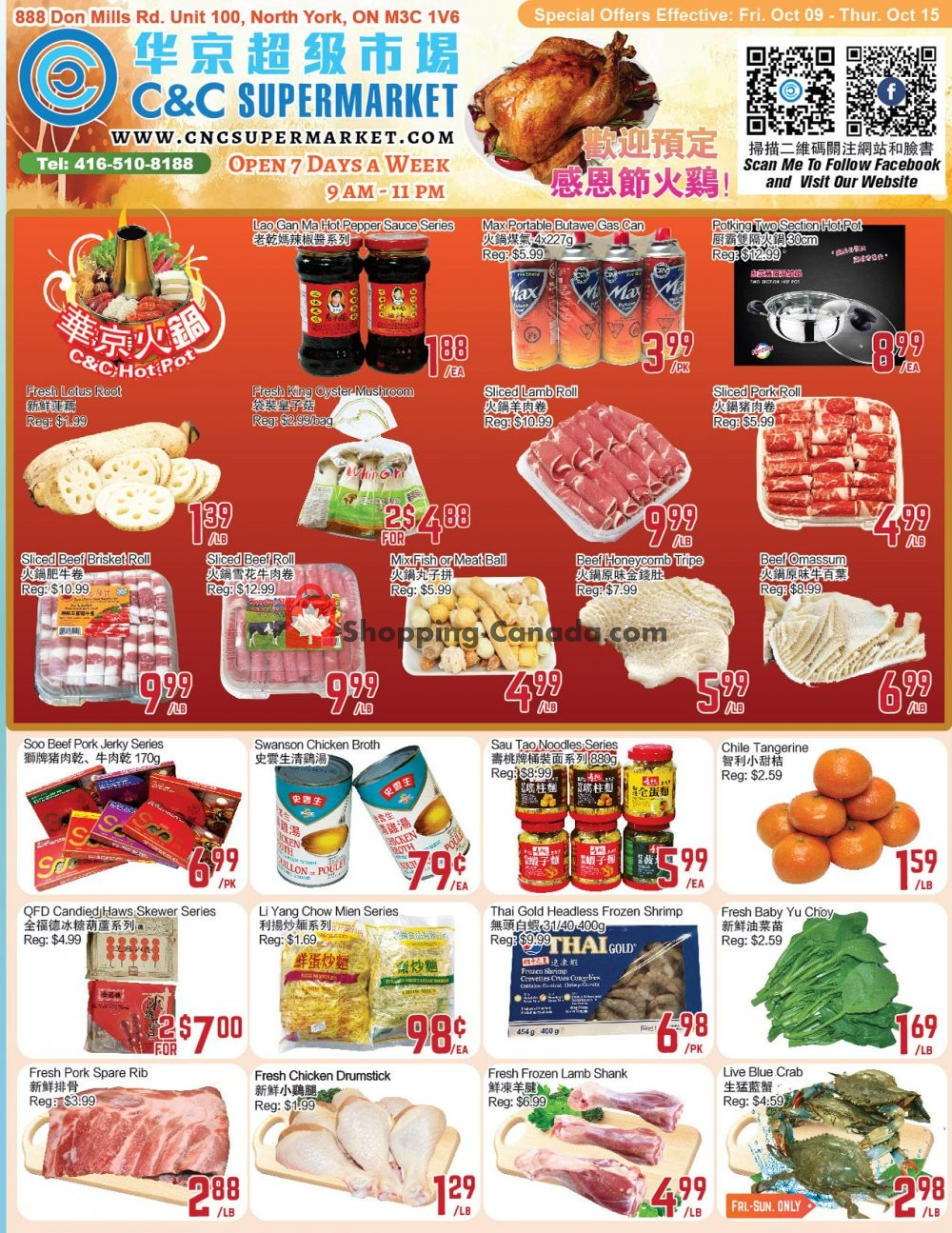 Flyer C&C Supermarket Canada - from Friday October 9, 2020 to Thursday October 15, 2020
