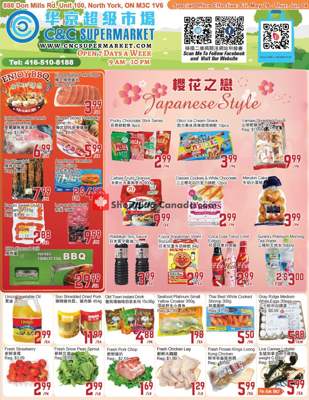 Flyer C&C Supermarket Canada - from Friday May 29, 2020 to Thursday June 4, 2020