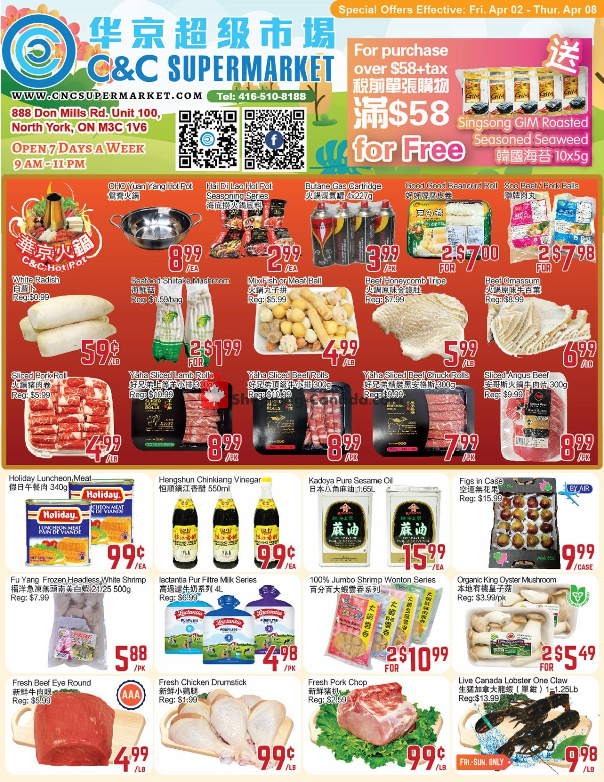 Flyer C&C Supermarket Canada - from Friday April 2, 2021 to Thursday April 8, 2021