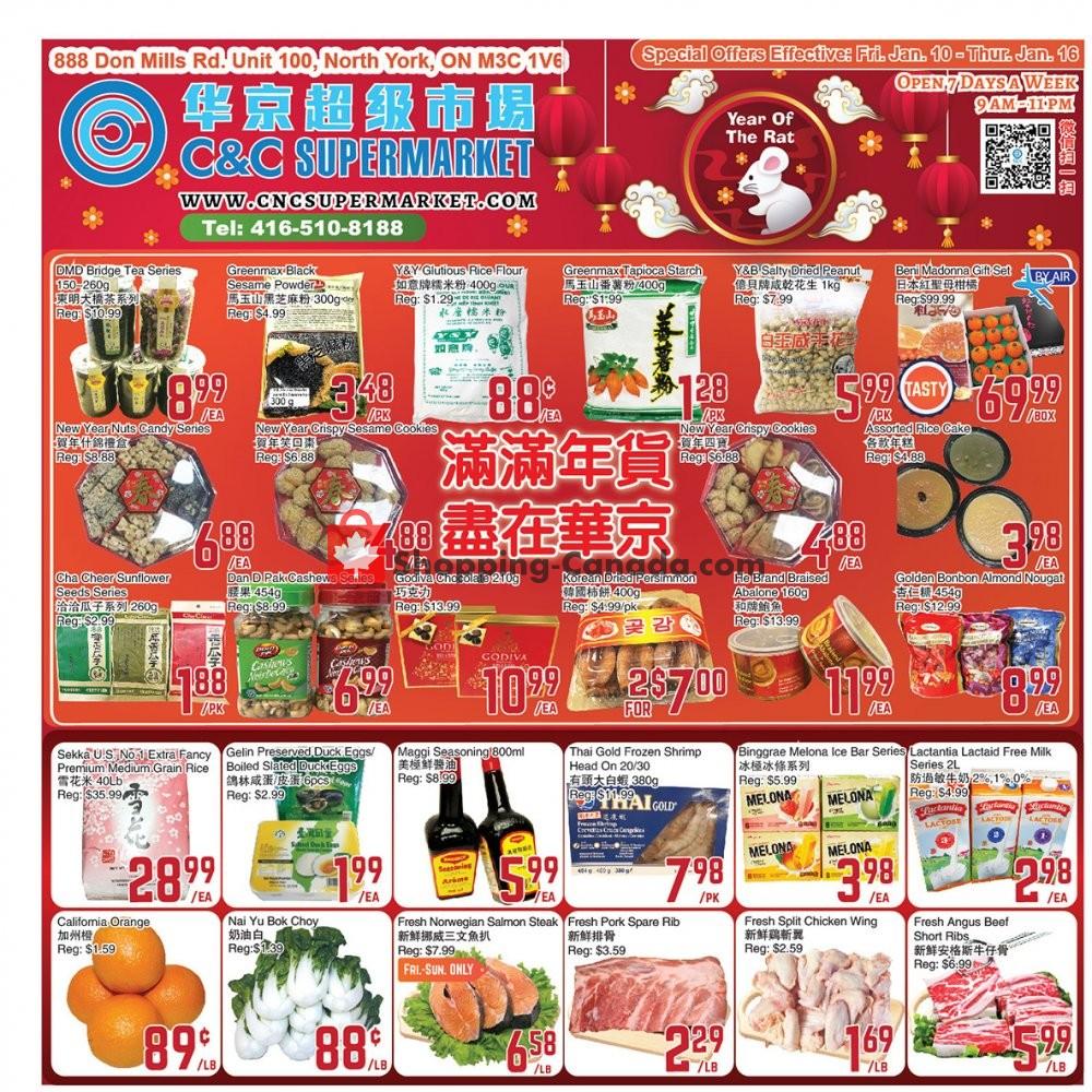 Flyer C&C Supermarket Canada - from Friday January 10, 2020 to Thursday January 16, 2020