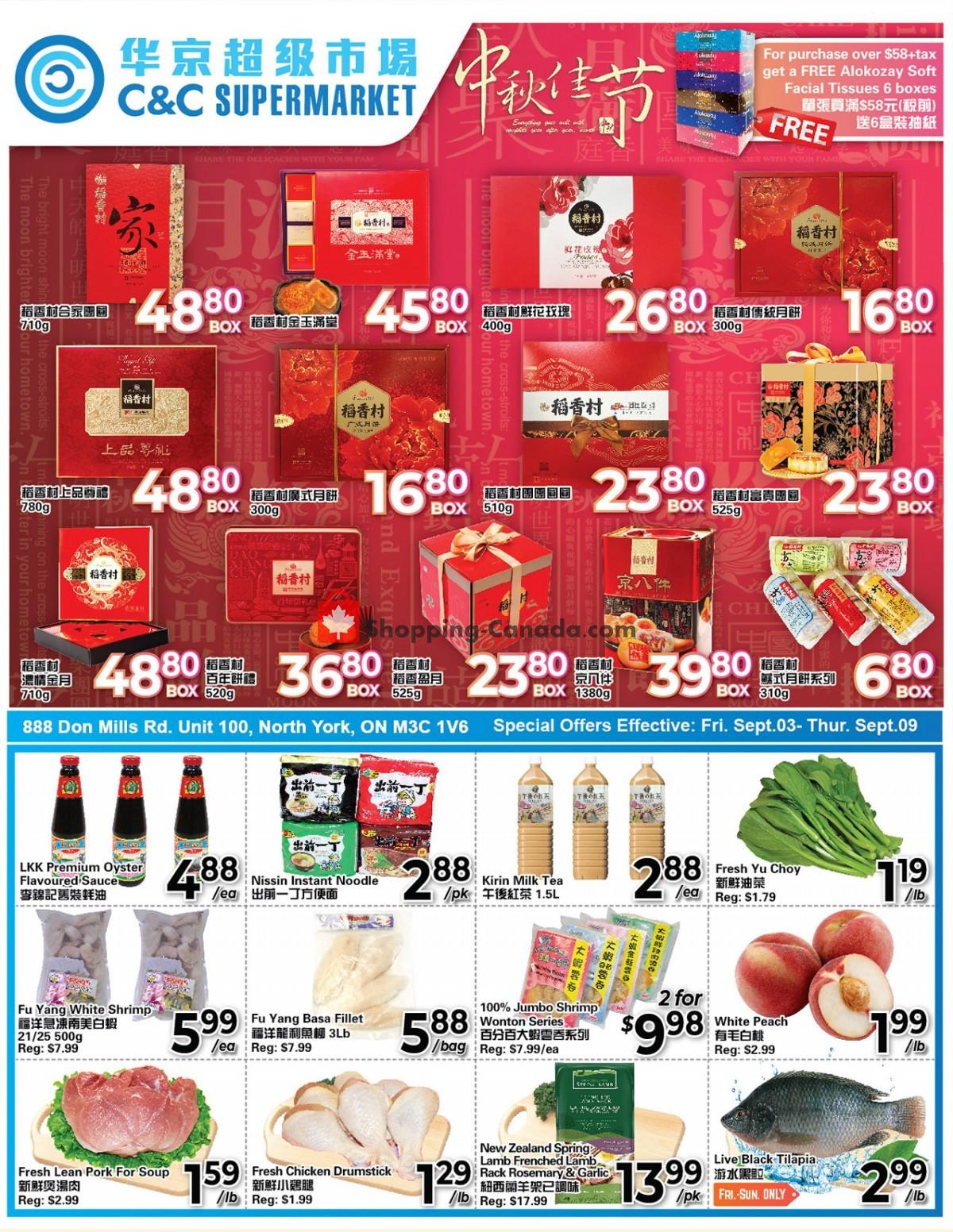 Flyer C&C Supermarket Canada - from Friday September 3, 2021 to Thursday September 9, 2021