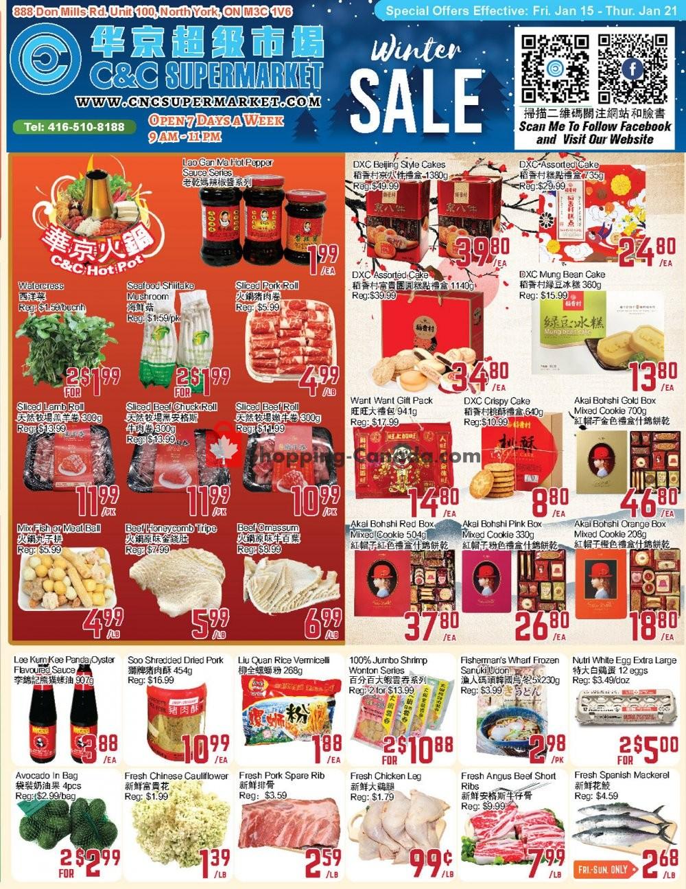 Flyer C&C Supermarket Canada - from Friday January 15, 2021 to Thursday January 21, 2021