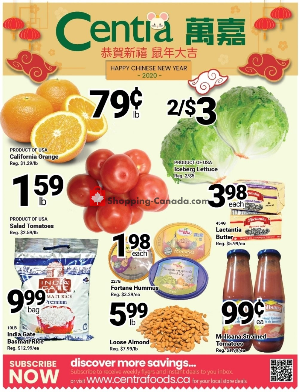 Flyer Centra Food Market Canada - from Friday January 31, 2020 to Thursday February 6, 2020