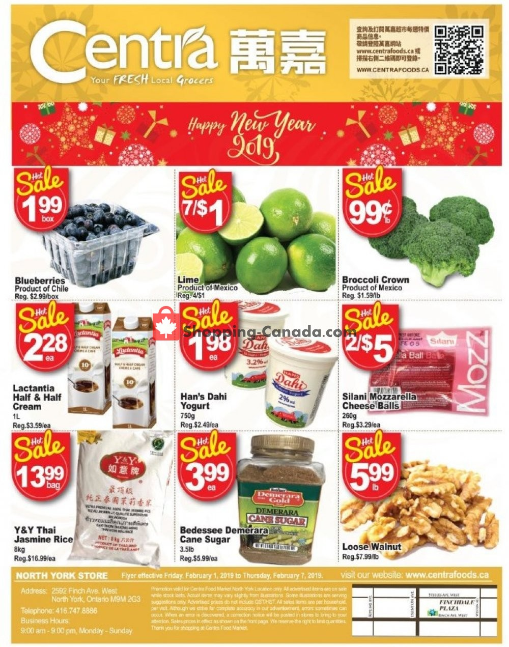 Flyer Centra Food Market Canada - from Friday February 1, 2019 to Thursday February 7, 2019
