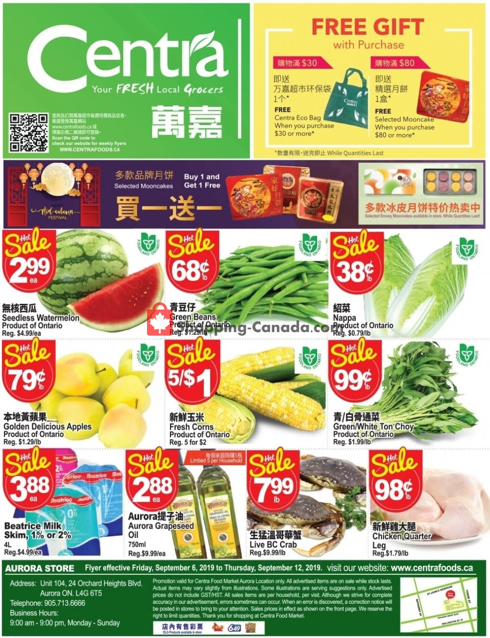 Flyer Centra Food Market Canada - from Friday September 6, 2019 to Thursday September 12, 2019