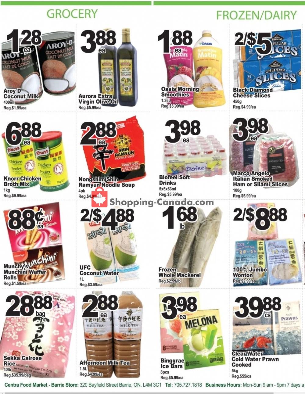 Flyer Centra Food Market Canada - from Friday September 6, 2019 to Thursday September 12, 2019