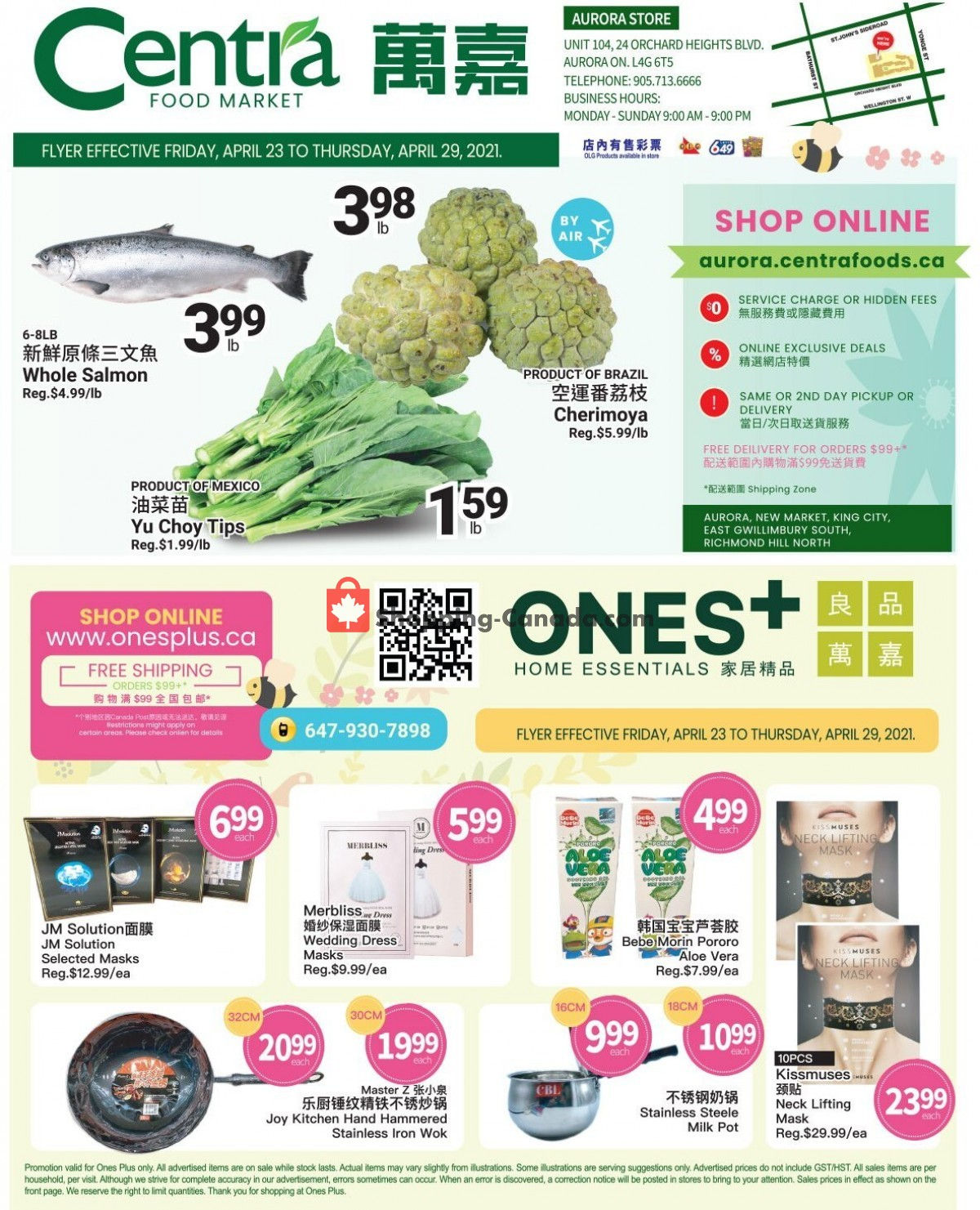 Flyer Centra Food Market Canada - from Friday April 23, 2021 to Thursday April 29, 2021