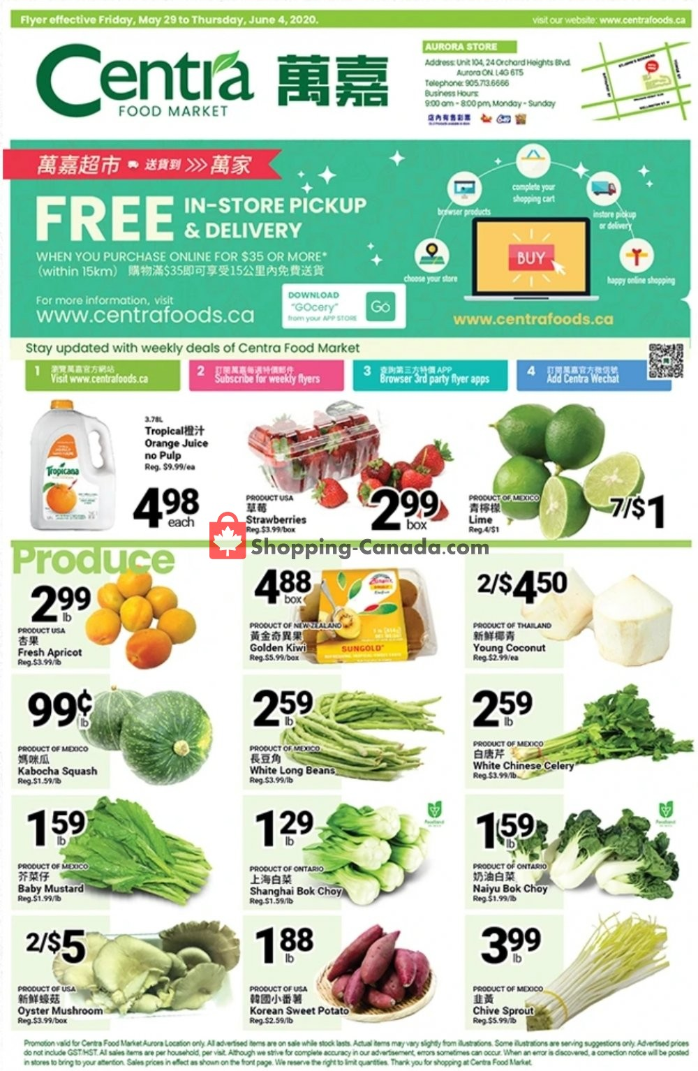 Flyer Centra Food Market Canada - from Friday May 29, 2020 to Thursday June 4, 2020
