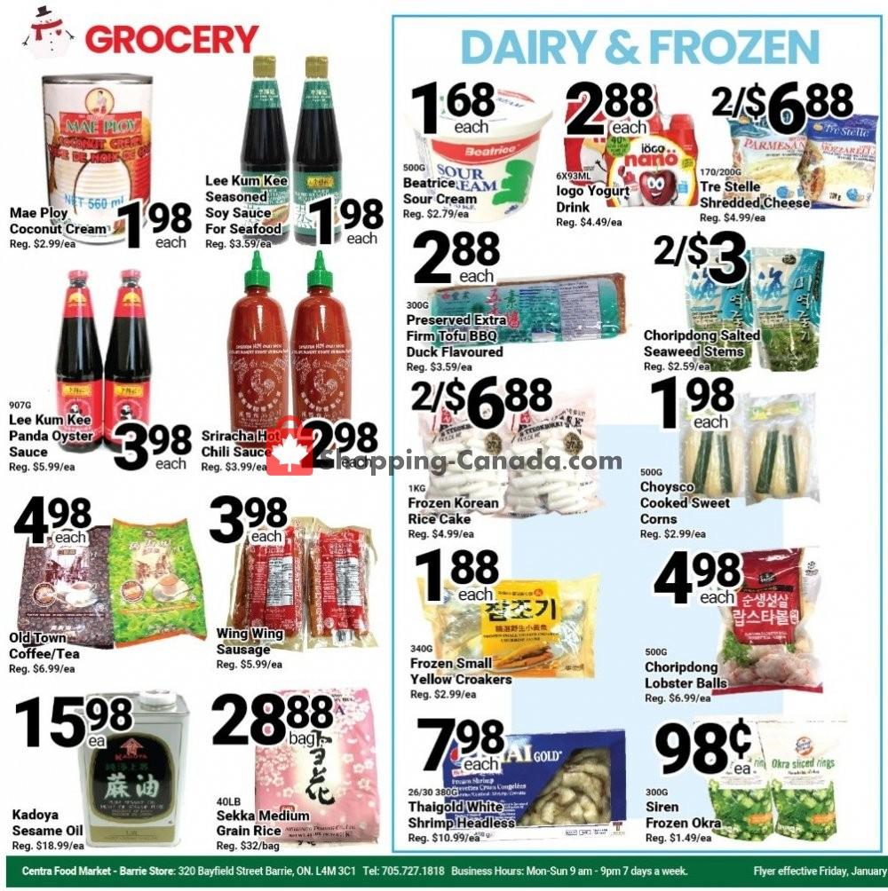 Flyer Centra Food Market Canada - from Friday January 10, 2020 to Thursday January 16, 2020
