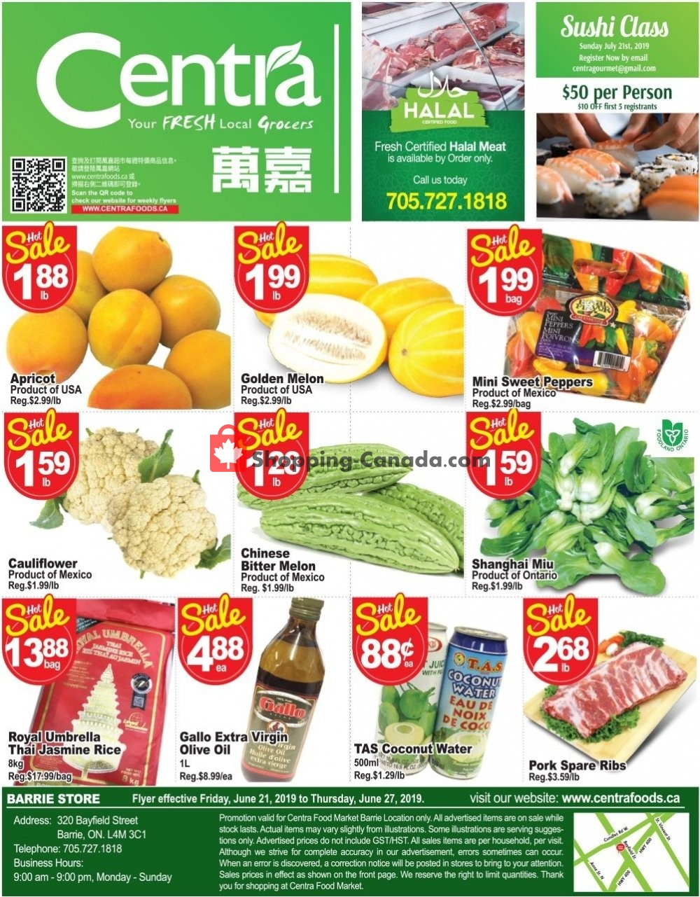 Flyer Centra Food Market Canada - from Friday June 21, 2019 to Thursday June 27, 2019
