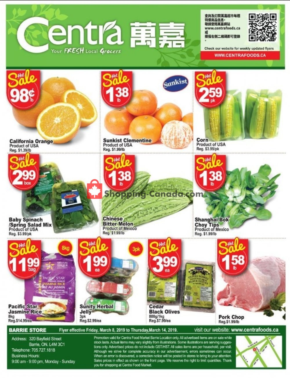Flyer Centra Food Market Canada - from Friday March 8, 2019 to Thursday March 14, 2019