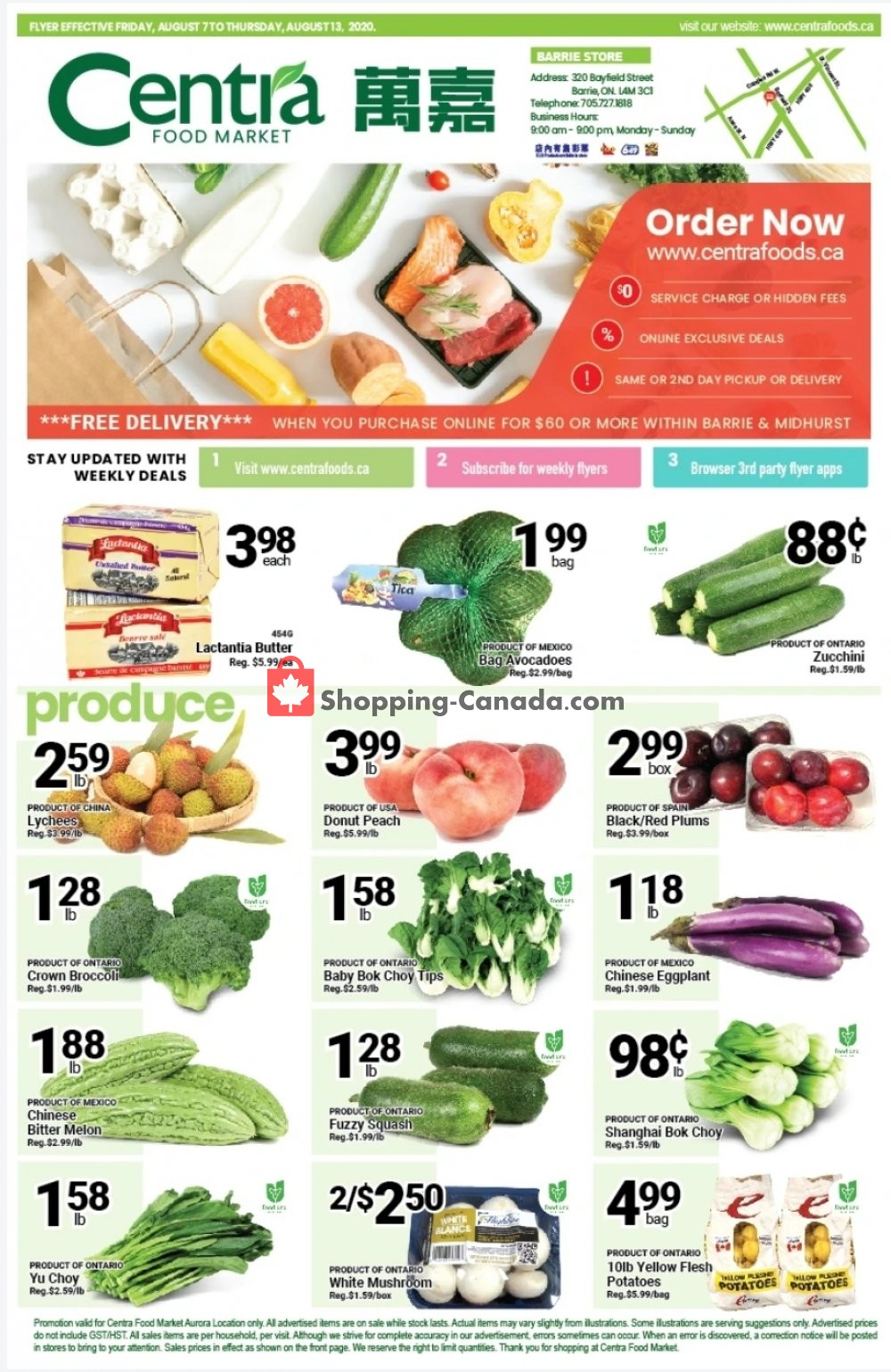 Flyer Centra Food Market Canada - from Friday August 7, 2020 to Thursday August 13, 2020