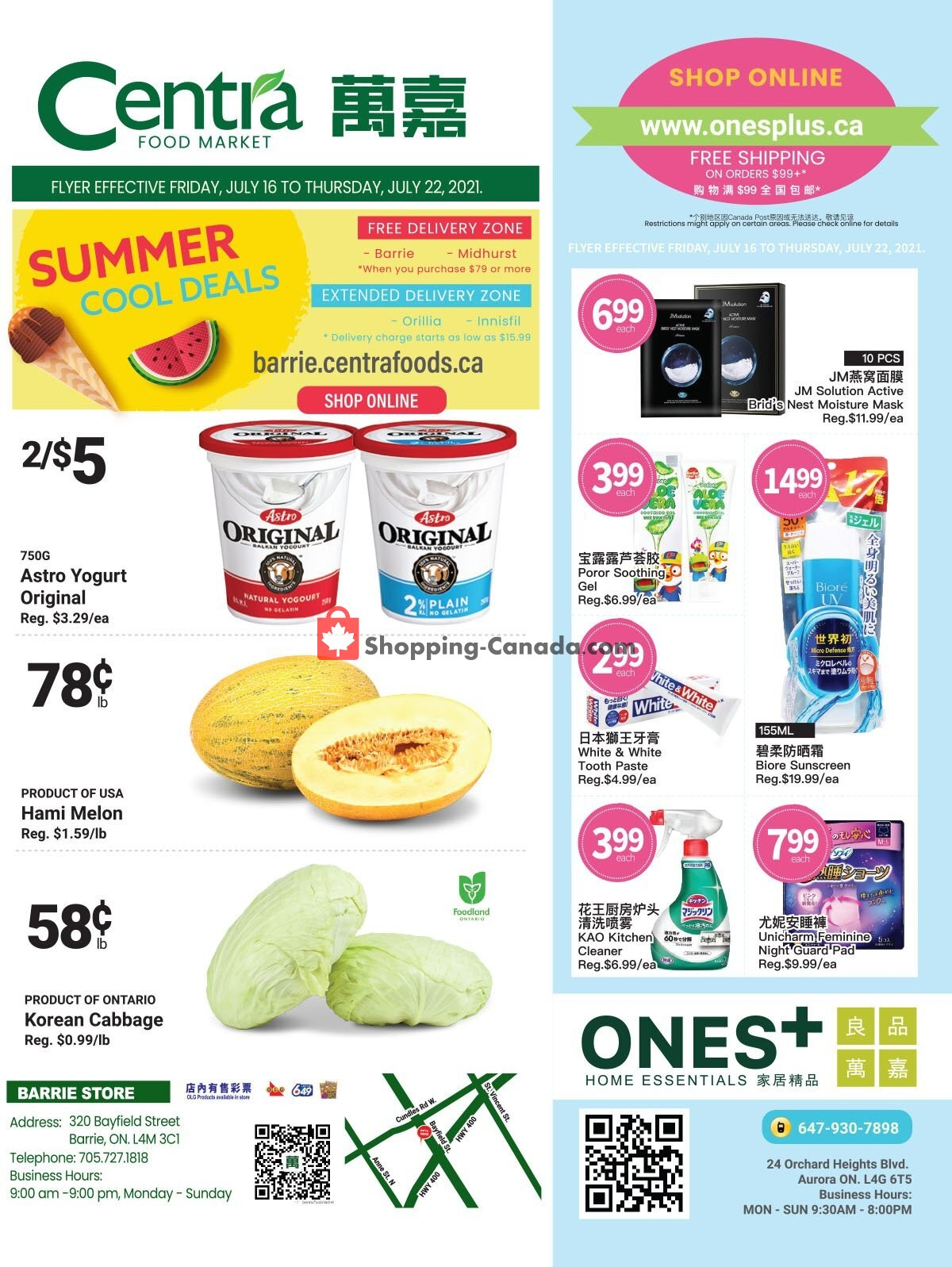 Flyer Centra Food Market Canada - from Friday July 16, 2021 to Thursday July 22, 2021