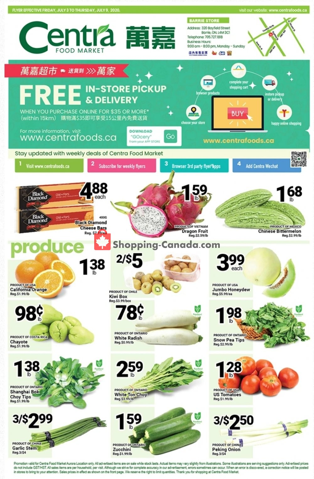 Flyer Centra Food Market Canada - from Friday July 3, 2020 to Thursday July 9, 2020
