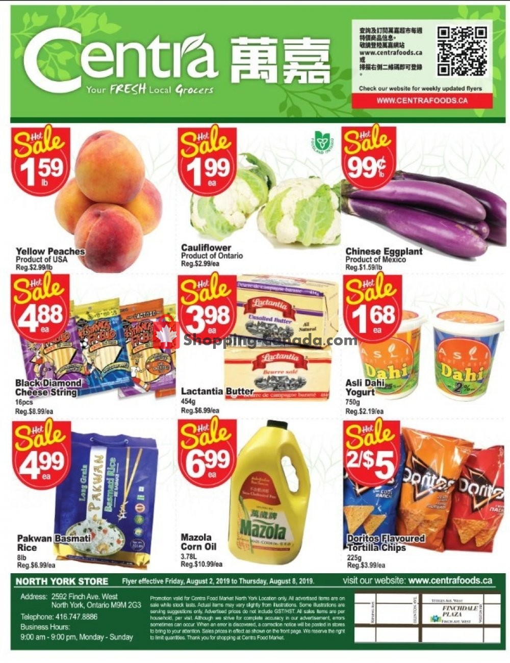 Flyer Centra Food Market Canada - from Friday August 2, 2019 to Thursday August 8, 2019