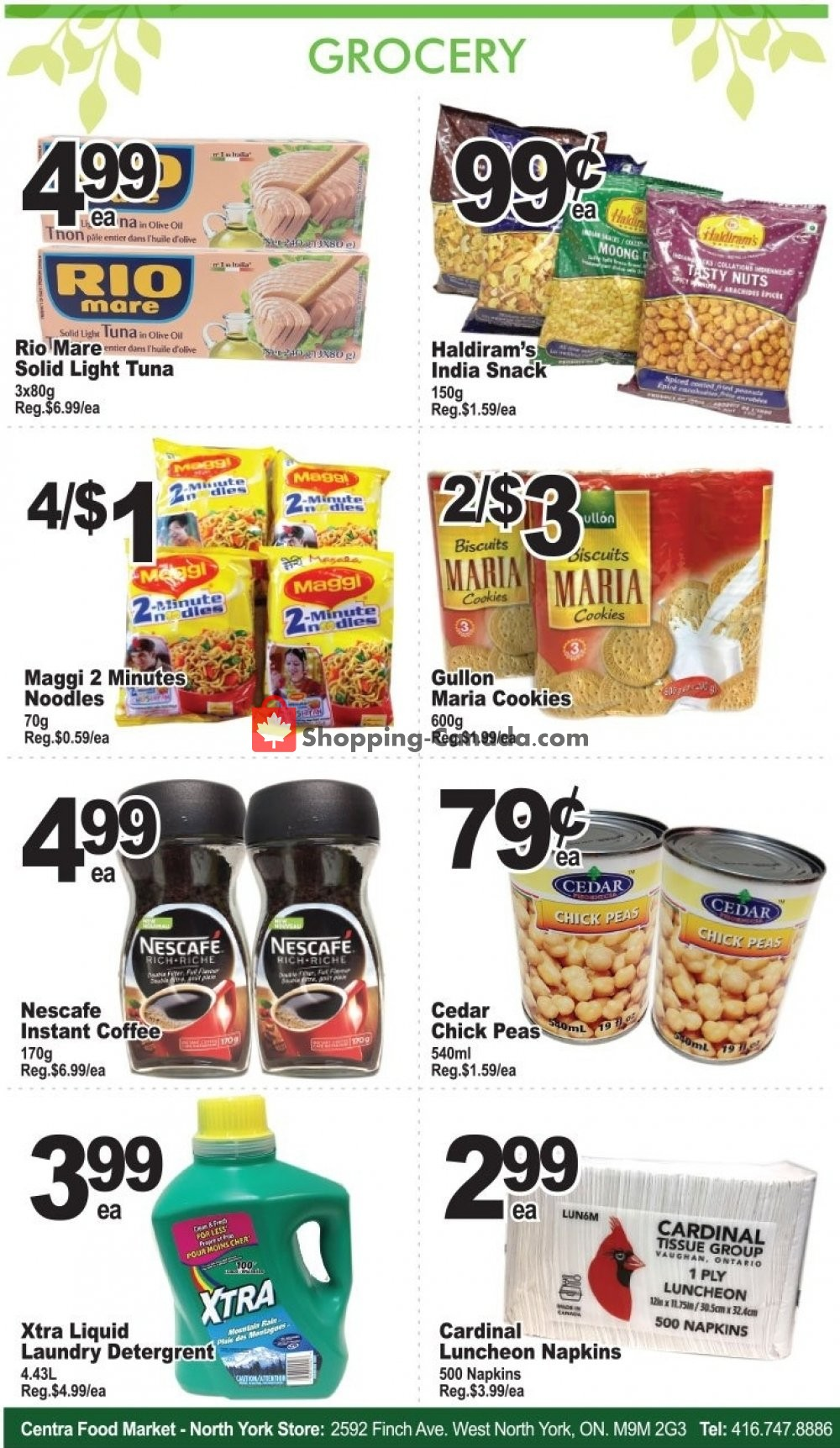 Flyer Centra Food Market Canada - from Friday July 12, 2019 to Thursday July 18, 2019