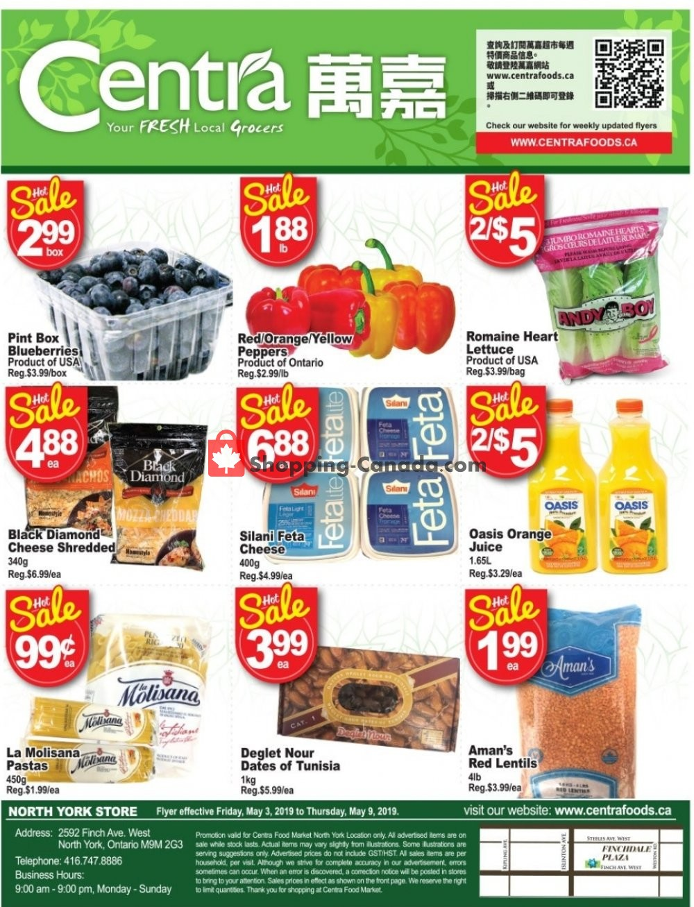 Flyer Centra Food Market Canada - from Friday May 3, 2019 to Thursday May 9, 2019