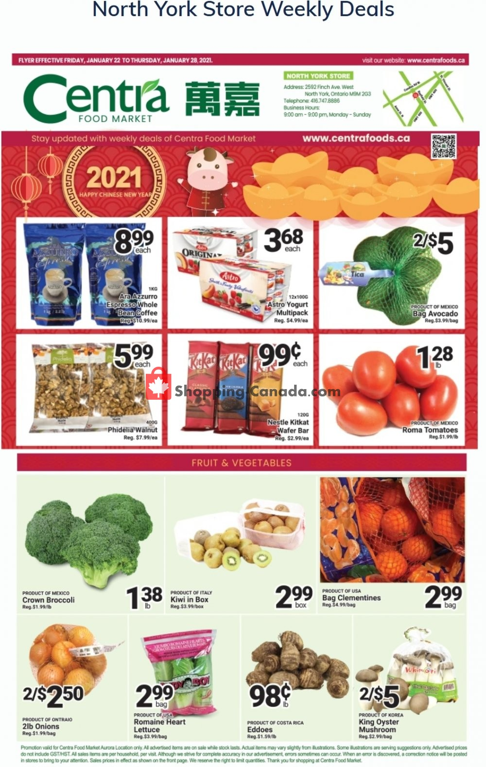 Flyer Centra Food Market Canada - from Friday January 22, 2021 to Thursday January 28, 2021