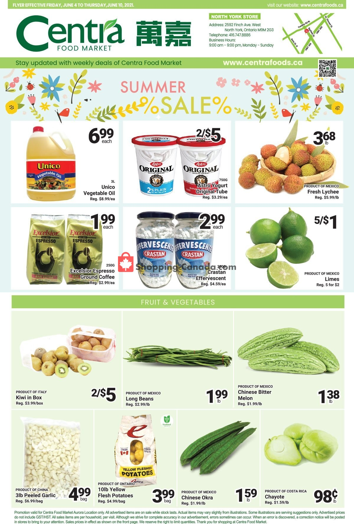Flyer Centra Food Market Canada - from Friday June 4, 2021 to Thursday June 10, 2021