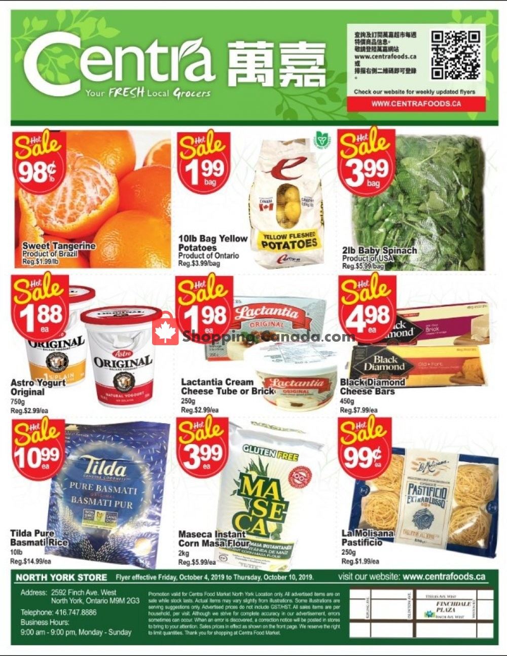Flyer Centra Food Market Canada - from Friday October 4, 2019 to Thursday October 10, 2019