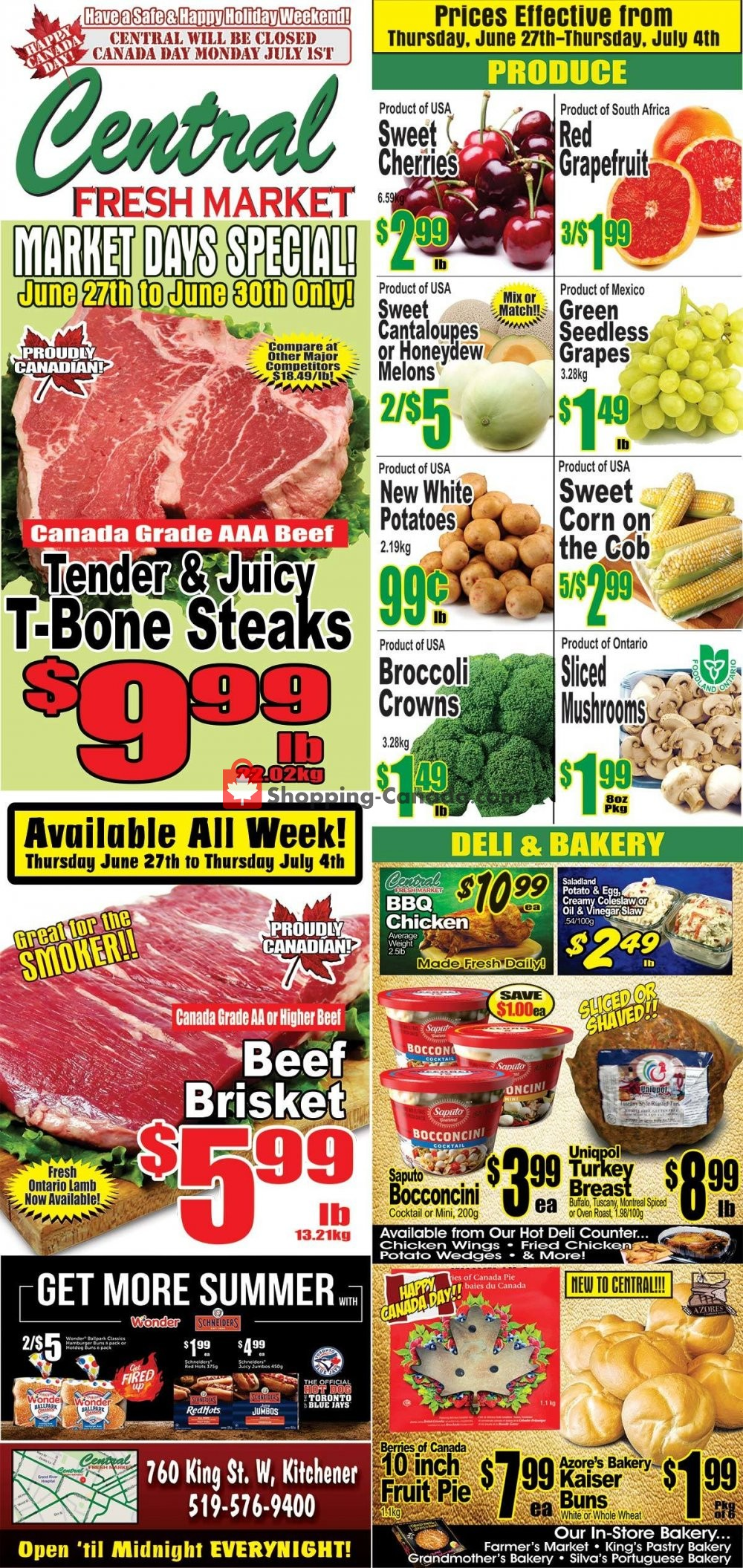 Flyer Central Fresh Market Canada - from Thursday June 27, 2019 to Thursday July 4, 2019
